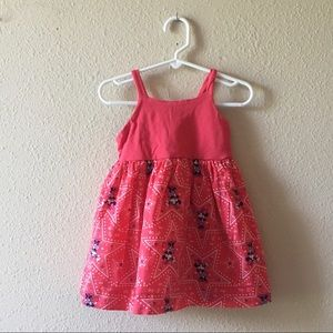 GAP Toddler Girl 2T Pink Minnie Mouse Dress